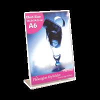 A6 L Tipi Dikey Pleksi Föylük  (10,5 x 15 cm)..