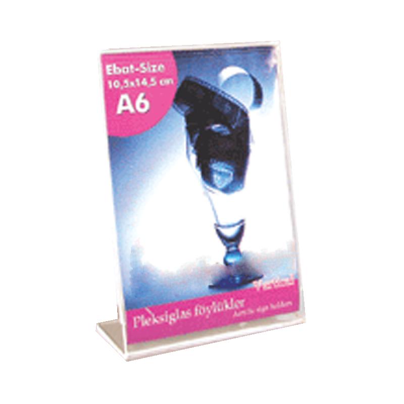 A6 L Tipi Dikey Pleksi Föylük  (10,5 x 15 cm)