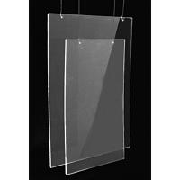 A3 UD (42x30 cm) dikey çift taraflı U pleksi föylük