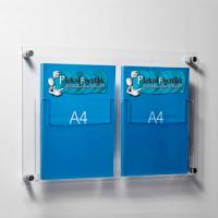 DBR 302 2xA4 Duvar montajlı tip pleksi broşürlük..