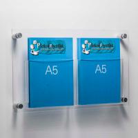 DBR 502 2xA5 Duvar montajlı tip pleksi broşürlük..