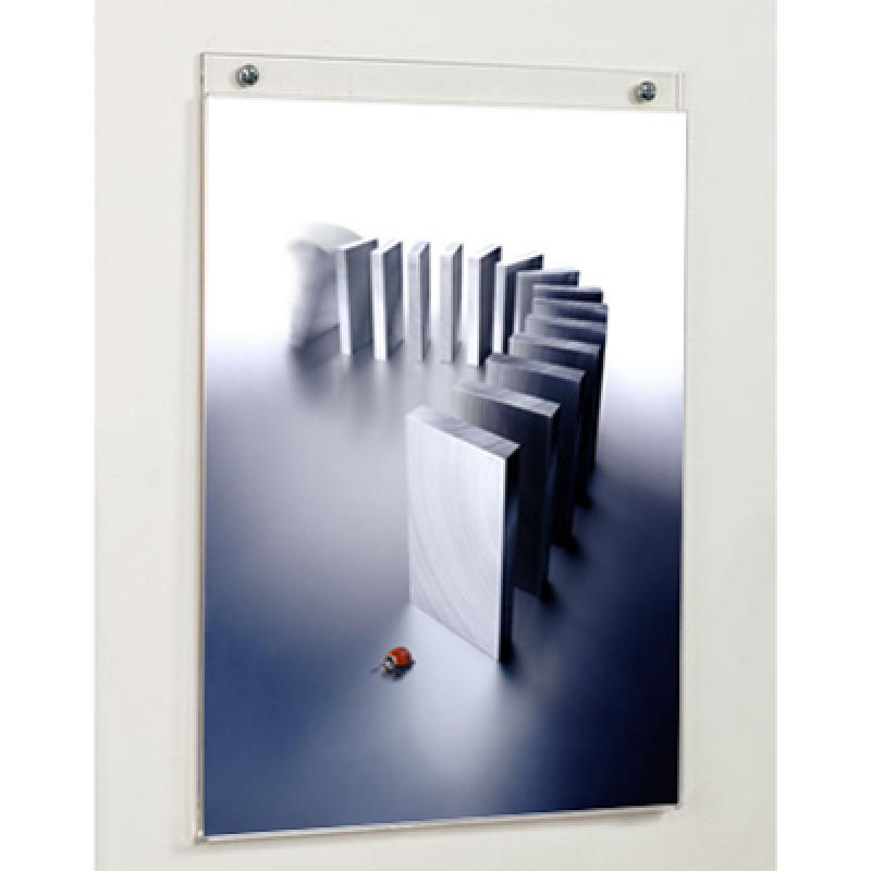 A4 UD (29,7x21 cm) dikey çift taraflı U pleksi föylük