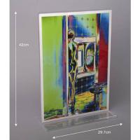 A3 DD (42x30 cm) dikey çift taraflı pleksi föylük