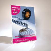 A3 LD (42x29,7 cm) dikey pleksi föylük