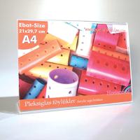 A4 LY (21x29,7 cm) yatay pleksi föylük