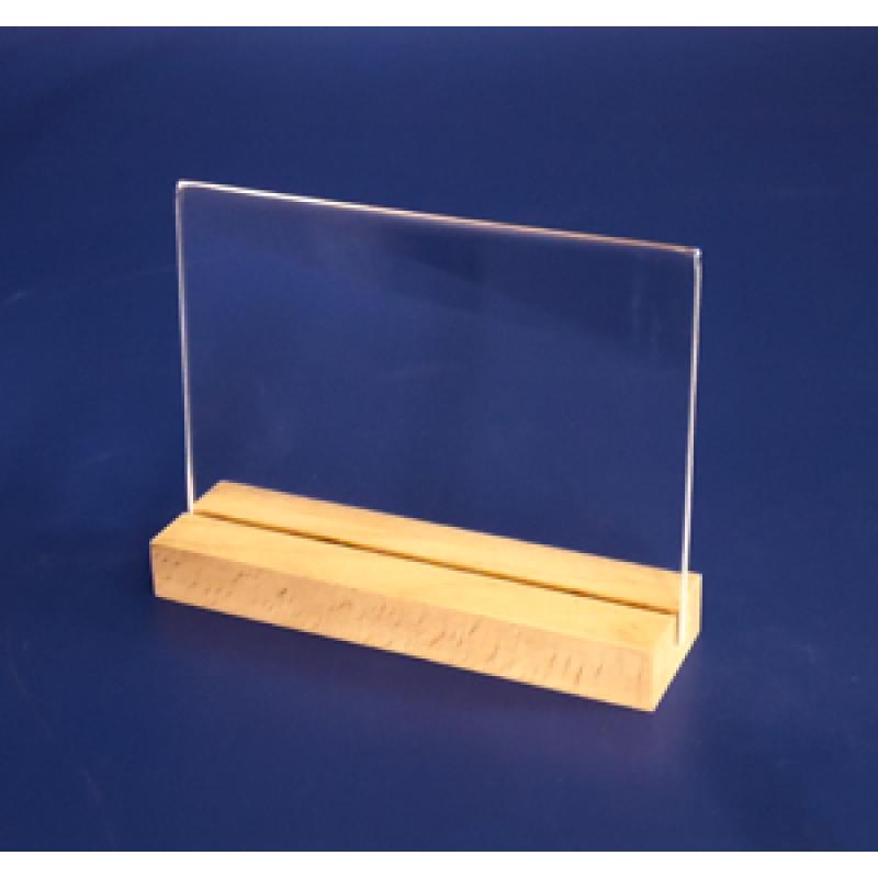 A6 Ahşap Ayaklı Yatay Föylük (15 x 10,5 cm)