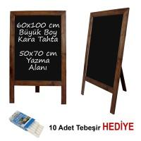 B&D Ahşap Çerçeveli Kara Tahta Yazı Tahtası Ceviz..