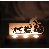 B&D Ahşap Tealight Mumluk Bisiklet..