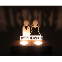 B&D Ahşap Tealight Mumluk Game Over..