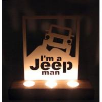 B&D Ahşap Tealight Mumluk Jeep..