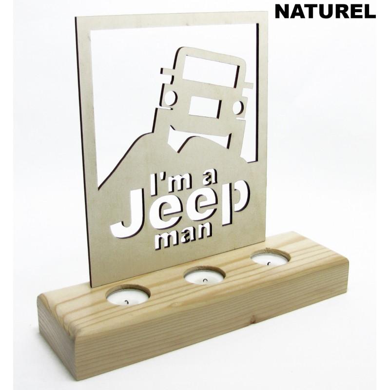 B&D Ahşap Tealight Mumluk Jeep