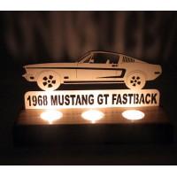 B&D Ahşap Tealight Mumluk Mustang..