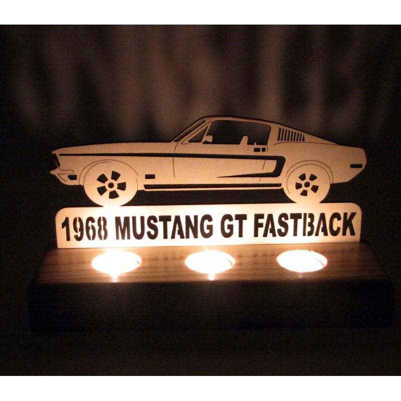 B&D Ahşap Tealight Mumluk Mustang