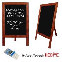 B&D Ahşap Çerçeveli Kara Tahta Yazı Tahtası Antik Meşe..