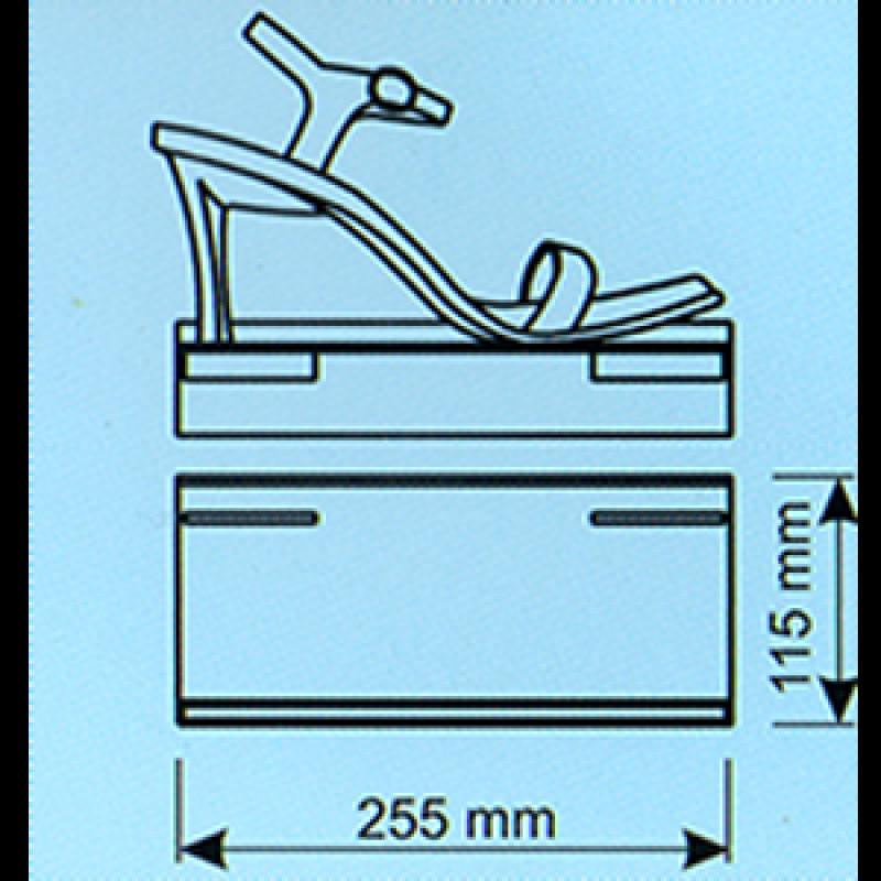 Kanallı pano ayakkabı rafı fiyatlıklı 255x115x40 mm