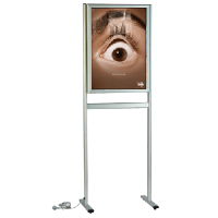 API 710 Ayaklı tek yüz ışıklı 70x100 poster pano