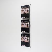 DBR 303 3xA4 Duvar montajlı tip pleksi broşürlük..