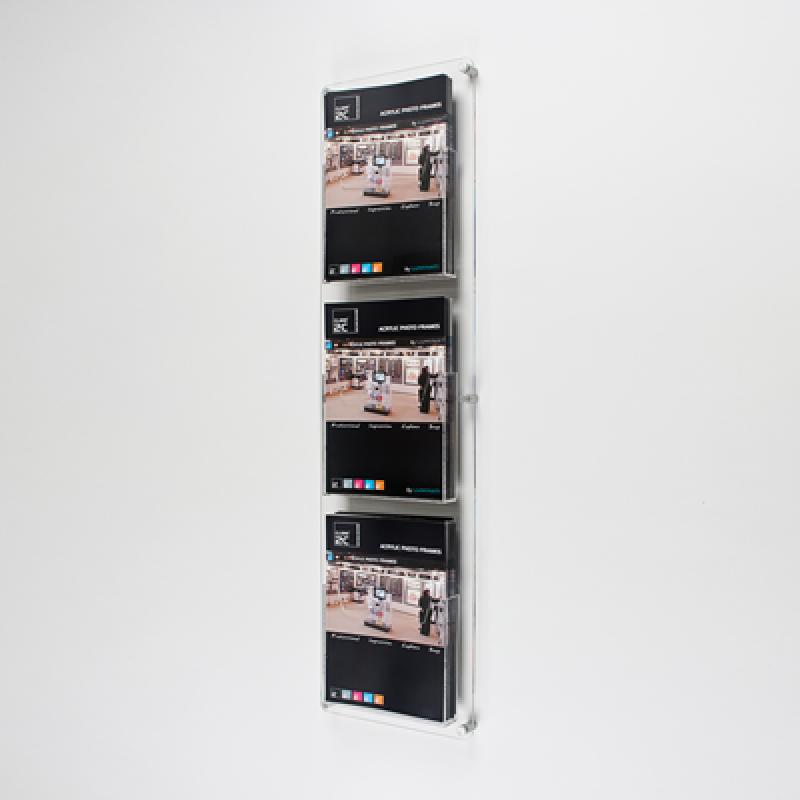 DBR 303 3xA4 Duvar montajlı tip pleksi broşürlük