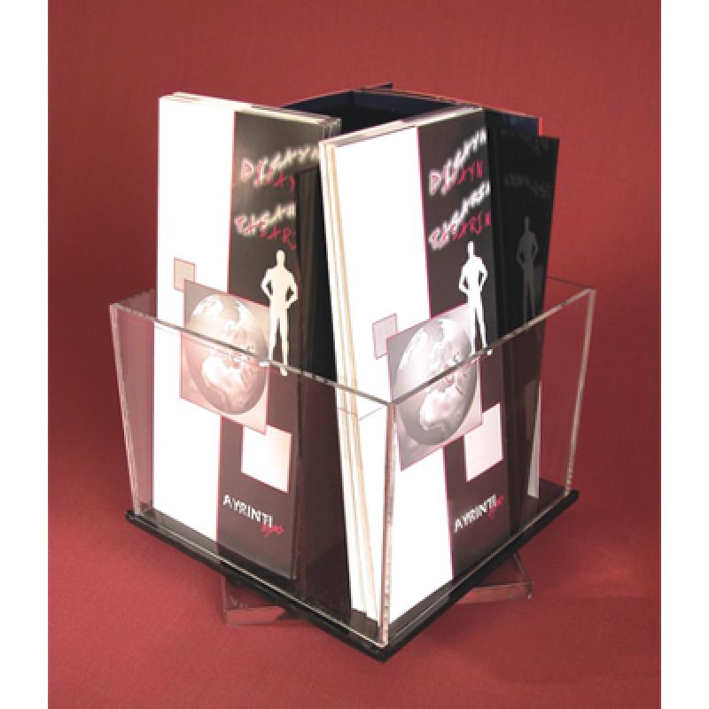BRA 10 Masa üstü 4 x 1/3 A4 pleksi broşürlük