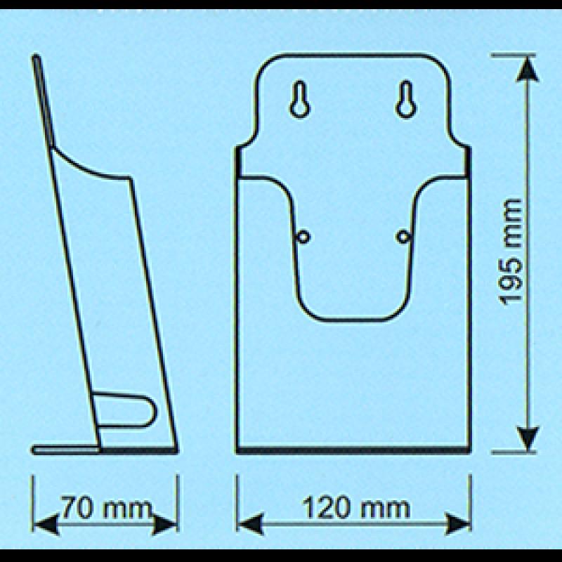 BRE 1 1/3 A4 (10,5x21 cm broşür için) Masa üzeri kızaklı enjeksiyon broşürlük