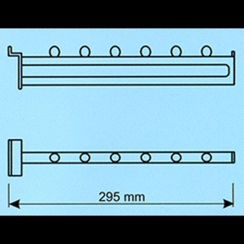 Kanallı pano düz askılık bastonu 295 mm