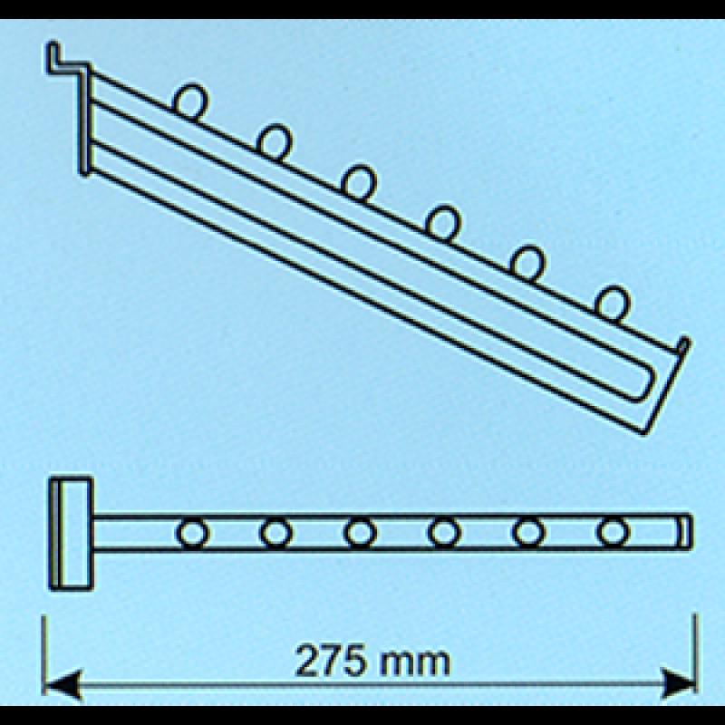 Kanallı pano eğimli askılık bastonu 275 mm