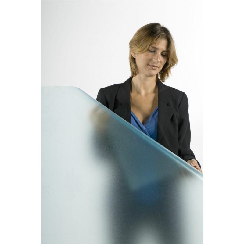 Mavi buzlu cam folyosu - 100x123 cm