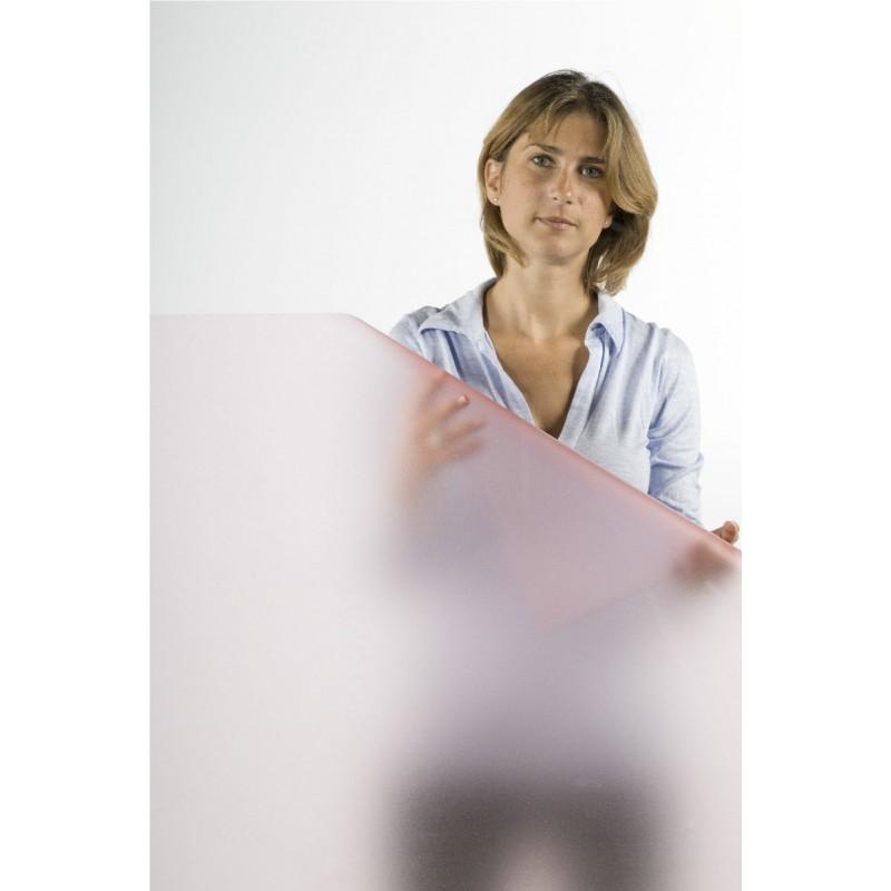 Pembe buzlu cam folyosu - 100x123 cm