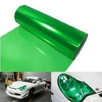 Transparan yeşil far kaplama folyosu - 50x125 cm..