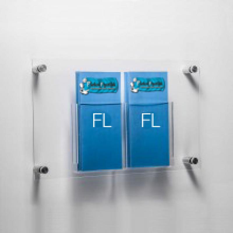 DBR 202 2xFlayer (1/3A4) Duvar montajlı tip pleksi broşürlük