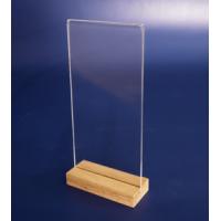 Flayer (1/3 A4) Ahşap Ayaklı Dikey Föylük (10,5 x 21 cm)..