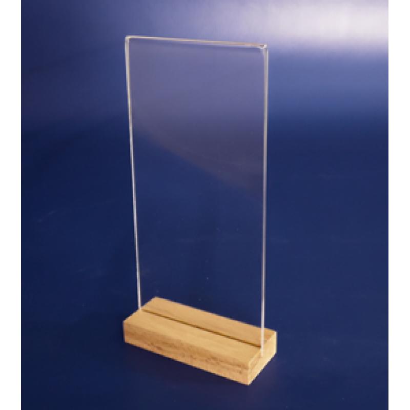 Flayer (1/3 A4) Ahşap Ayaklı Dikey Föylük (10,5 x 21 cm)