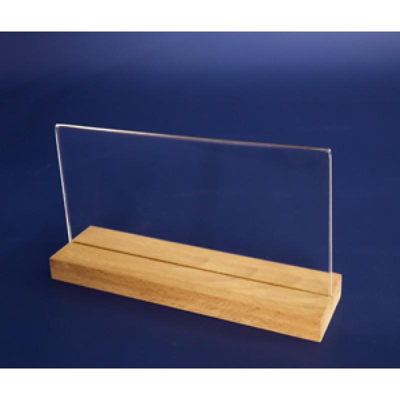 Flayer (1/3 A4) Ahşap Ayaklı Yatay Föylük (21 x 10,5 cm)