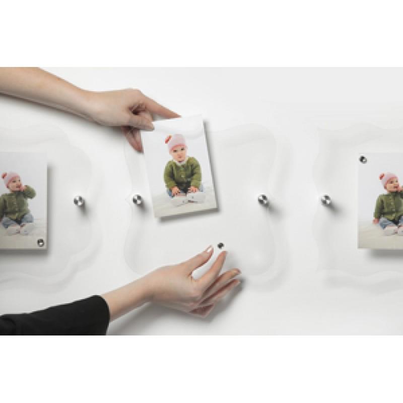 FMC Rosso mıknatıslı pleksi resim panosu (13x18cm resim için)
