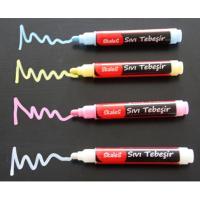 KTK 4'lü set sıvı tebeşir kalemi (Beyaz-mavi-pembe..