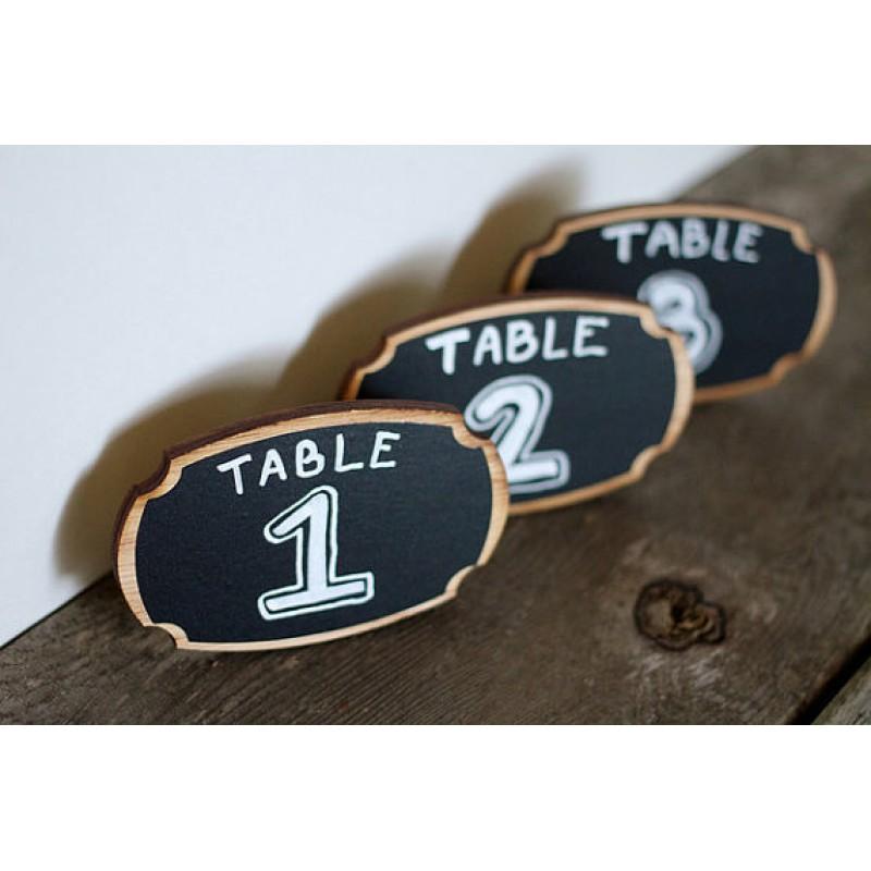 MAE 511 Masa üstü ahşap karatahta ayaklık ( 7x9 cm) 12 adet