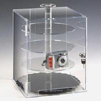 Pleksi döner raflı teşhir kutusu (30x30x37 cm)..