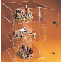 Pleksi kilitli satış teşhir kutusu (40x40x66 cm)..