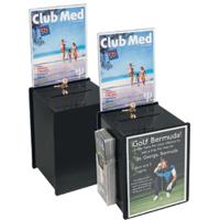 PKBDK 017 Pleksi broşürlüklü kutu