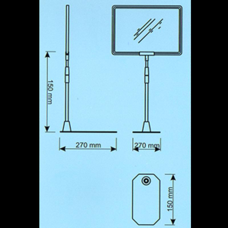 ECOA Çerçeve için  teleskobil boru ve ördek ayak seti