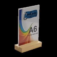 A6 Ahşap Ayaklı Dikey Föylük (10,5 x 15 cm)..