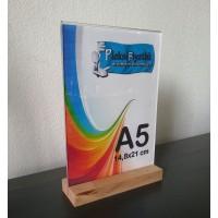 A5 Ahşap Ayaklı Dikey Föylük (15 x 21 cm)..