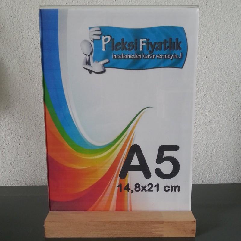 A5 Ahşap Ayaklı Dikey Föylük (15 x 21 cm)