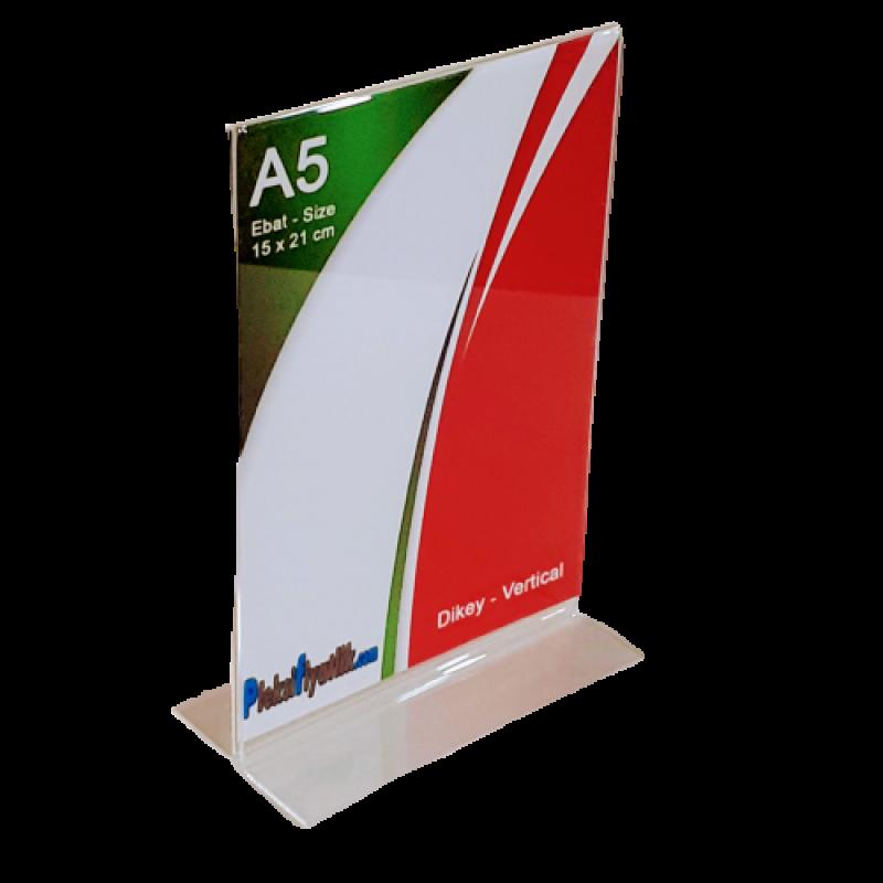 A5 T Tipi Çift Taraflı Dikey Pleksi Föylük (15 x 21 cm)
