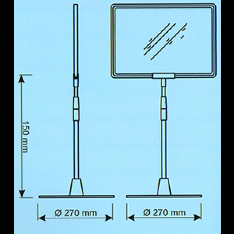 ECYA Çerçeve için teleskobil boru ve yuvarlak ayak seti